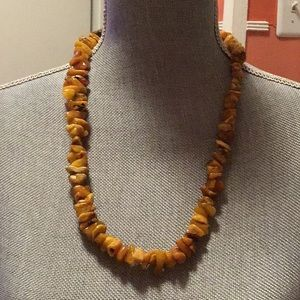 Jewelry - Raw amber chip bead necklace